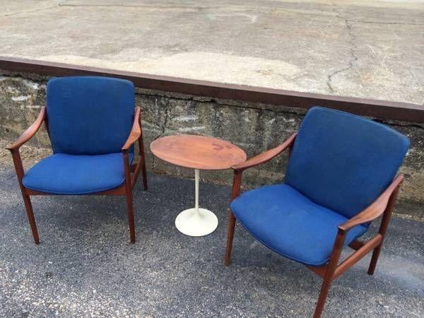 Danish Mid Century Modern Lounge Chairs - $895 (Midtown)
