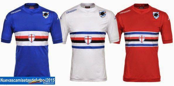 Nuevas camisetas de futbol 2014 2015 2016: Camiseta Serie A 2014 2015:Camiseta SAMPDORIA Kappa 2014 2015