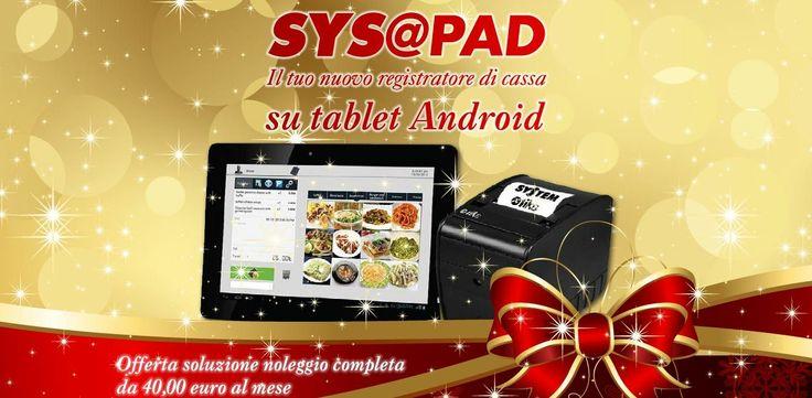 """SYS@PAD è un moderno tablet su base Android, piccolo e robusto, con un display da 10,1"""". L'interfaccia utente personalizzata semplice e intuitiva trasmette all'utente una estrema facilità d'uso. SYS@PAD grazie al software integrato SYS@APP è ideale per il settore Ho.re.ca. SYS@AP"""