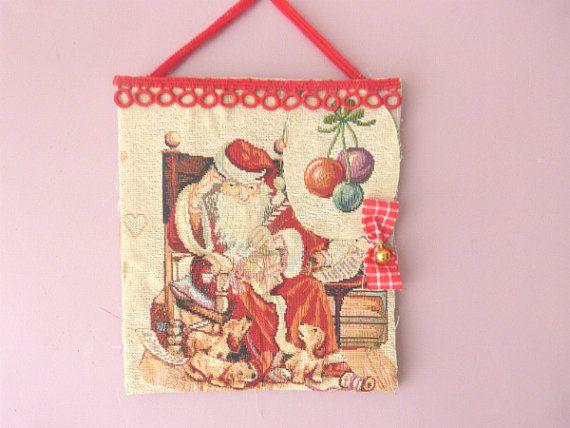 Santa Claus and dogs Santa Claus ornament by CrossStitchElizabeth