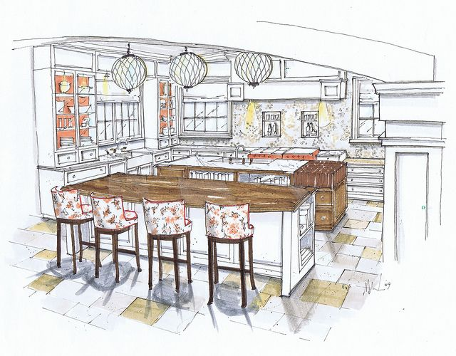 NY Kitchen Commission Jacquie Cao Design Michelle Morelan Rendering