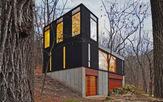 Johnsen Schmaling Architects' Modest Stacked Cabin Wins Third Architectural Award!