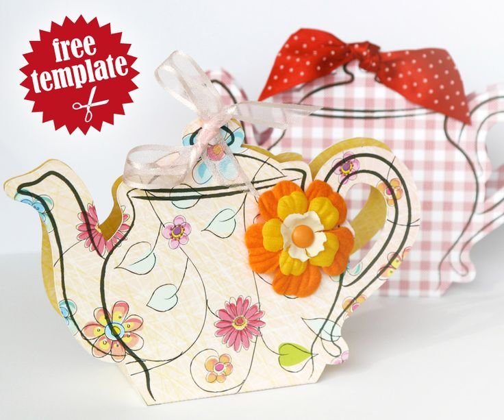 Free template: Teapot gift box.