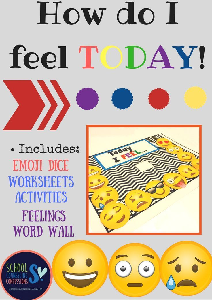 How do I feel TODAY?? 36 pages of activities, word wall, and dice!