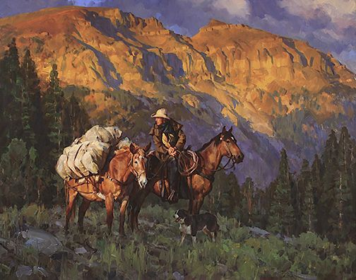 """Near the Summit"" by Jason Rich (Cowboy Artist)"