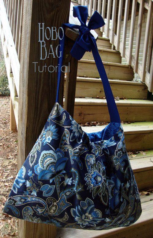 Free Bag Pattern and Tutorial - Hobo Bag Pattern