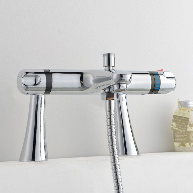 thermostatic bath mixer taps shower slider tall deck mounted chrome wall