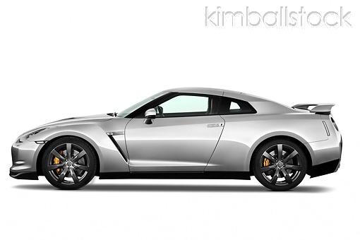 AUT 44 IZ0244 01 - 2010 Nissan GTR Profile View Studio - Kimballstock