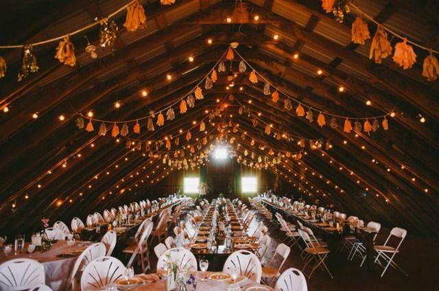 Hochzeitsdeko Scheune Location Ideen Herbst