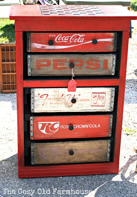 soda crate drawers.  Chest made from old soft drink cases