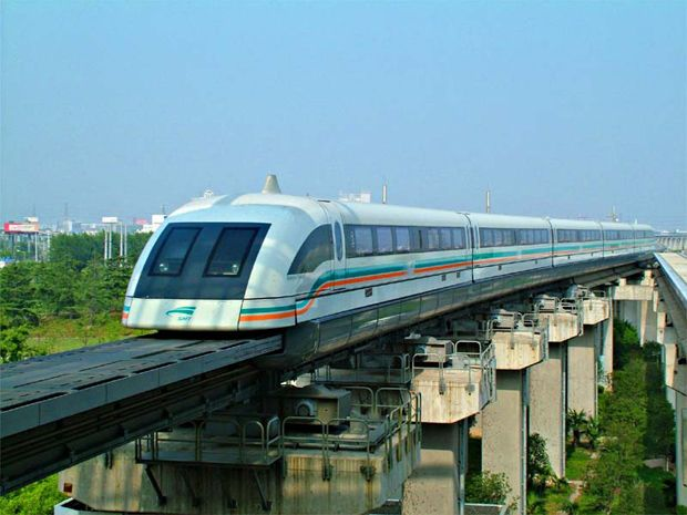 Shanghai Maglev Train. Only a short ride but pick it up from the airport and experience the speed train for yourself on arrival to Shanghai.