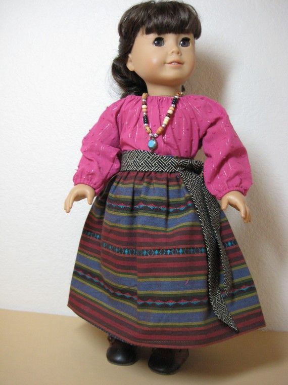 5 Pc Southwestern Fuchsia Outfit with Boots for by nayasdesigns
