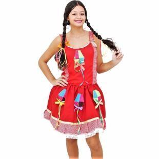 0ad2f8326 Fantasia de Festa Junina Adulto Feminino Vestido Caipira - Fantasias carol  he com as melhores condições