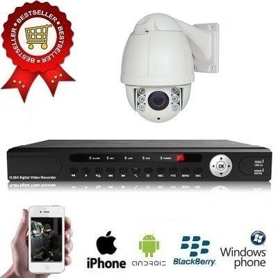 1x PTZ Camera Set 10x Zoom Nachtzicht  Spysecurityshop.nl biedt u een bewakingscamera aan met een uitzonderlijke zicht van een hoge beeldkwaliteit. Dit is een zeer professionele PTZ bewakingscamera voor buiten is van de nieuwste generatie bestuurbare camera's. De uitstekende beeldkwaliteit en zeer gebruiksvriendelijke besturing.Deze bewakingscamera heeft een resolutie van 650 TVL in kleuren en 700 TVL in zwart/wit en juist door deze resolutie heeft u een prachtig beeld. De bewakingscamera…