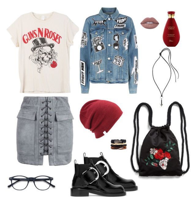 """""""Untitled #4"""" by afsyara-fifa on Polyvore featuring MadeWorn, Frame, WithChic, Maison Margiela, Monki, Lanvin and Coal"""