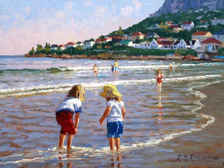Cooling off, Fish Hoek beach, Artist Roelof Rossouw. http://fineartamerica.com/profiles/roelof-rossouw.html?