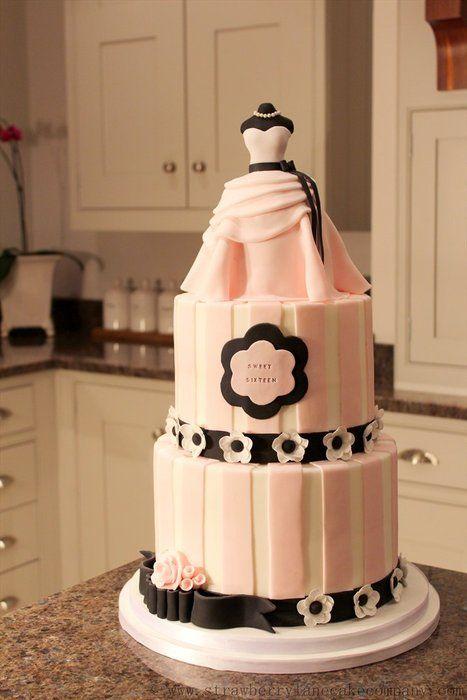 Sweet 16 Birthday Cake - by Strawberry Lane Cake Company @ CakesDecor.com - cake decorating website
