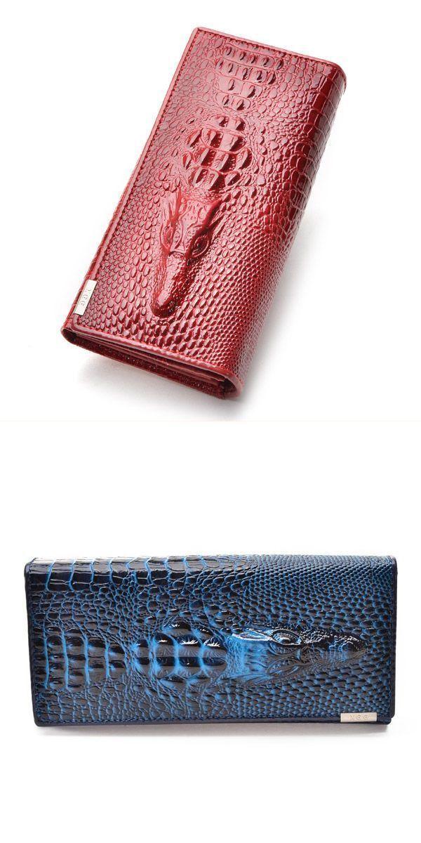 R Amp A Wallets Women 8217 S Pu Leather Crocodile Envelope Long Clutch