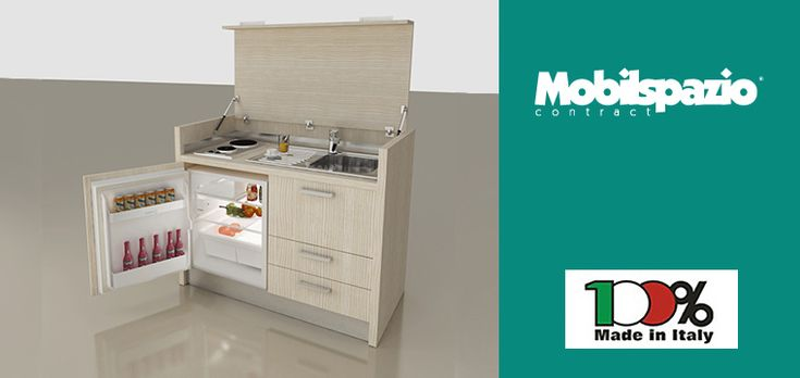 Made in Italy monoblock kitchens and furniture for hotels and residences