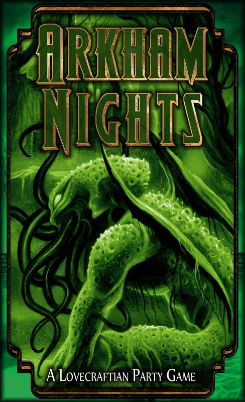 """Cover Art from the party game """"Arkham Nights"""" by Dann Kriss Games, with art by Ian Daniels © 2015"""