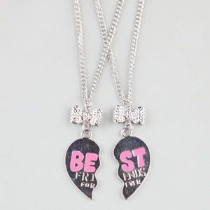 2 Piece Best Friends Forever Necklaces #bestfriends #neckleaces #friends