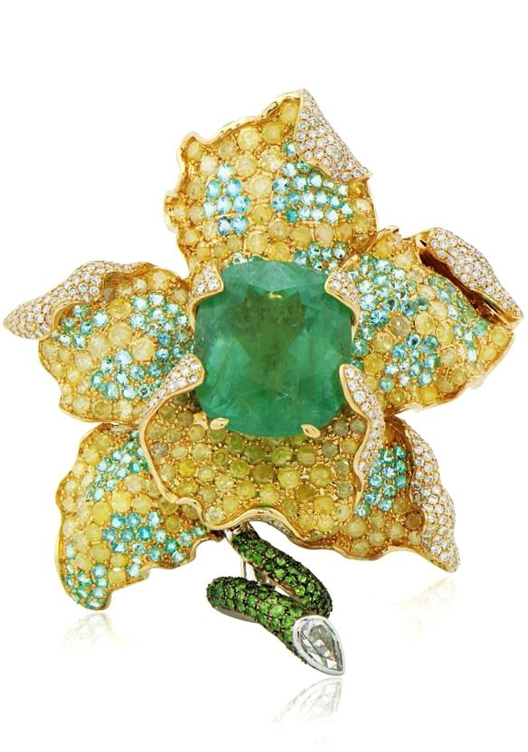 {Flower Brooch by Alessio Boschi}