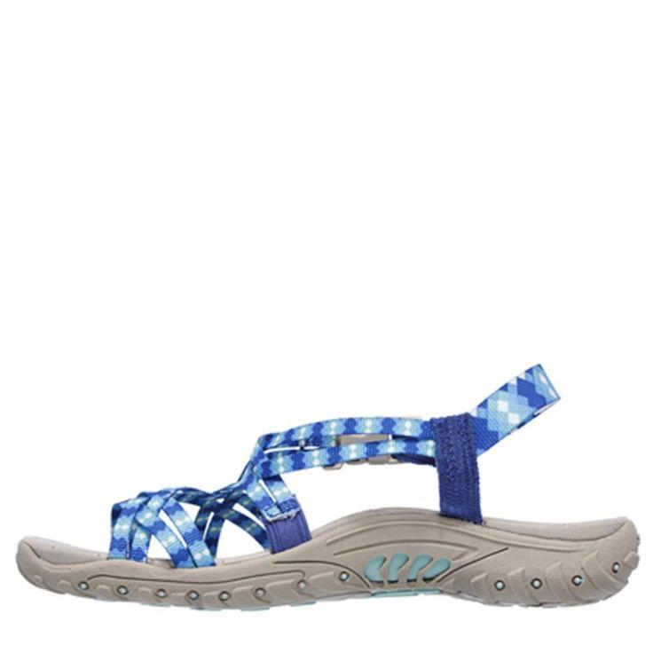 Skechers Women's Reggae Tie Dyed Slingback Sandals (Blue)