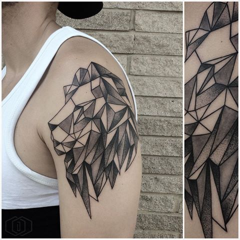 25 best ideas about geometric lion tattoo on pinterest geometric lion lion thigh tattoo and. Black Bedroom Furniture Sets. Home Design Ideas