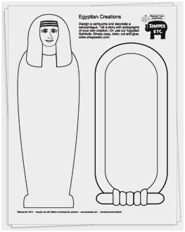 Avery 5352 Template Pretty Egyptian Mummy Template