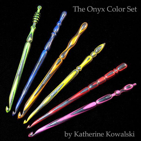 Wooden Crochet Hooks  - how beautiful are these?                                                                                                                                                                                 More