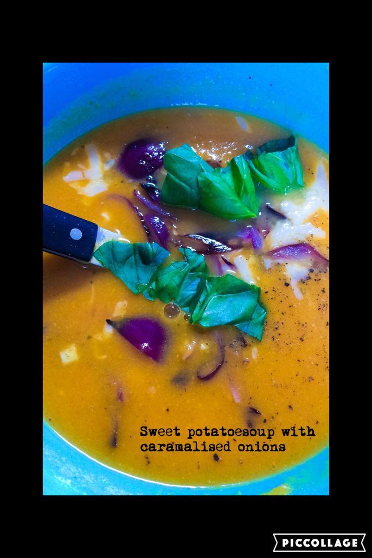 Sweet potato soup With caramalised onions