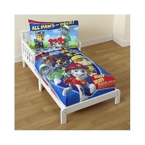 Paw Patrol Kids Bedding Set Toddler 4 Piece Comforter