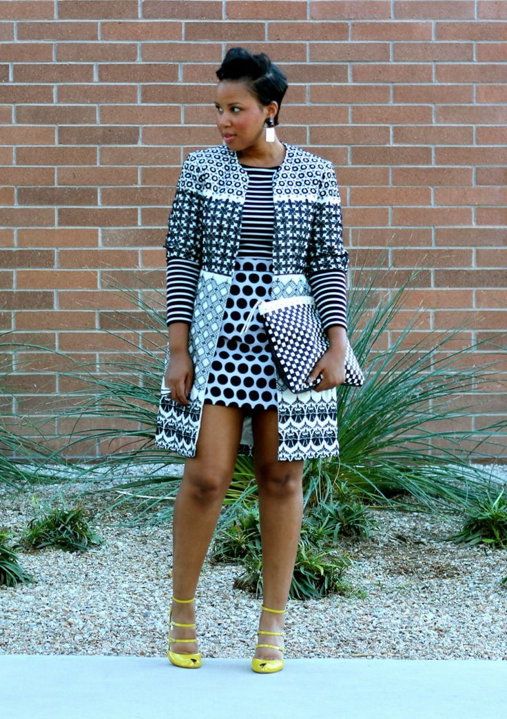 Monochrome African prints