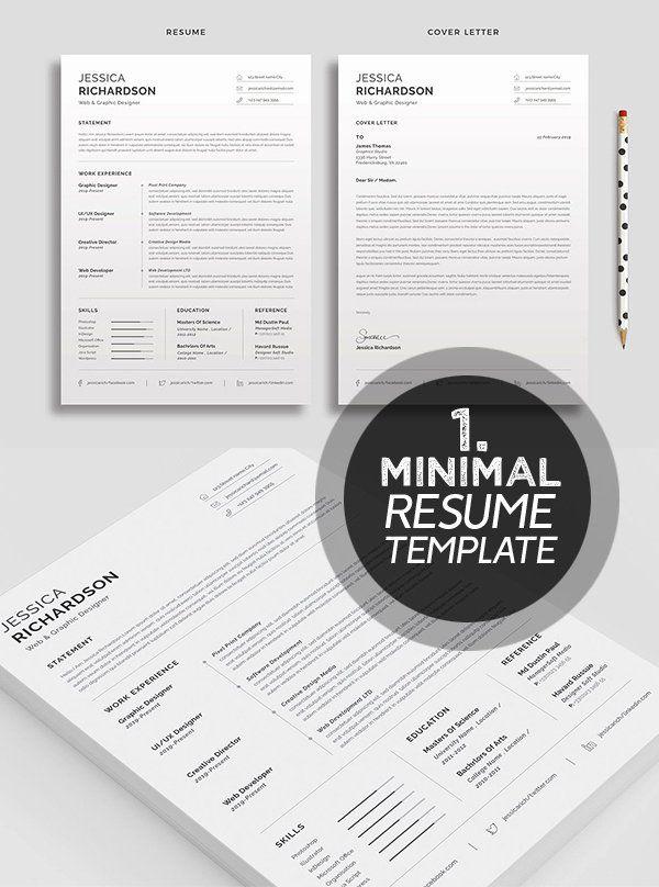 Clean Resume Template Word Fresh 25 Best Minimalism Resume Templates 2018 Design Clean Resume Template Resume Template Word Resume Templates