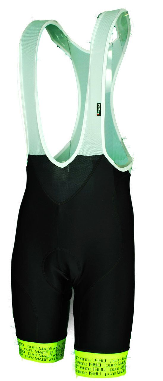 Pella Platinum Ergo Black Fluorescent Bib Shorts.   Official Cycling Bibs