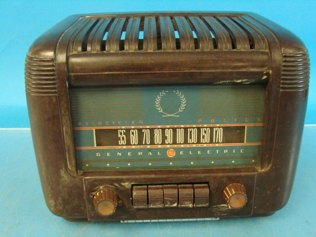 GE General Electric Antique Tube Radio Multicolor Dial Front Bakelite Pushbutton | eBay