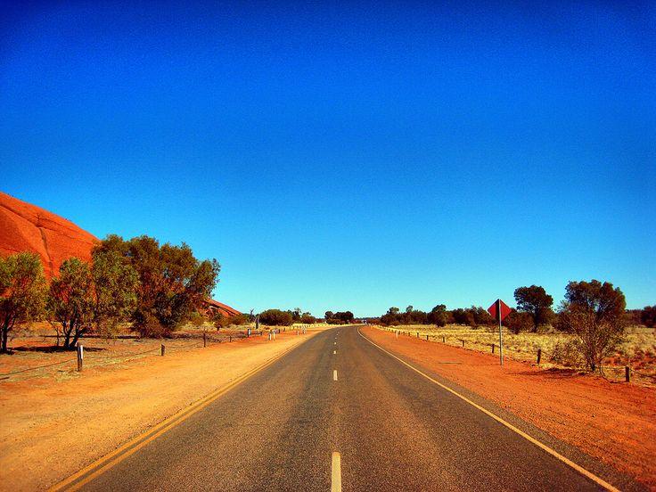 Road to Uluru. All about travelling to Uluru: http://traveloutbackaustralia.com/outback-destinations/ayers-rock-uluru.html
