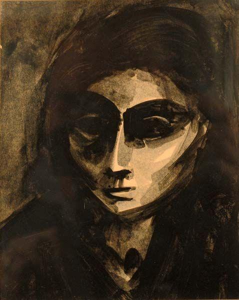 Jacques DE TONNANCOUR - Portrait de femme (c. 1943)
