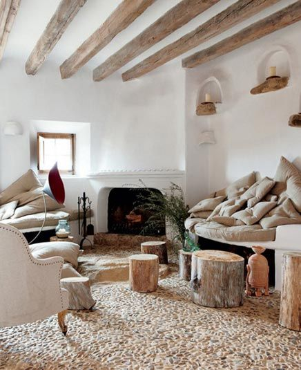 Exotische woonkamer met natuurlijke kleurtinten - inrichting-huis.com   Inspiratie voor de inrichting van je huis