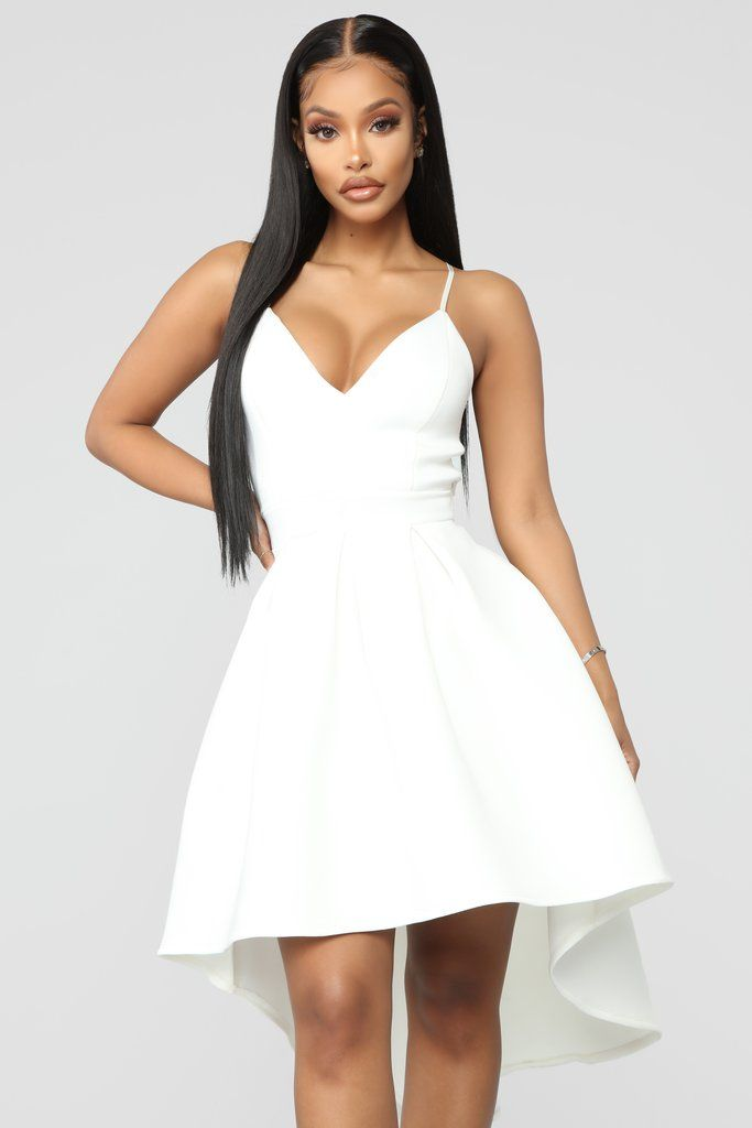 cf6e5e3f1 Just A Kiss High Low Dress - White in 2019 | dresses fashion nova ...