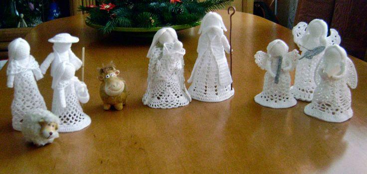 crocheted nativity scene - Hledat Googlem