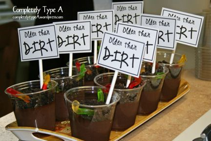 "haha my mom used to always make us ""dirt and worms"" I'm doing this for her birthday next year! =]"