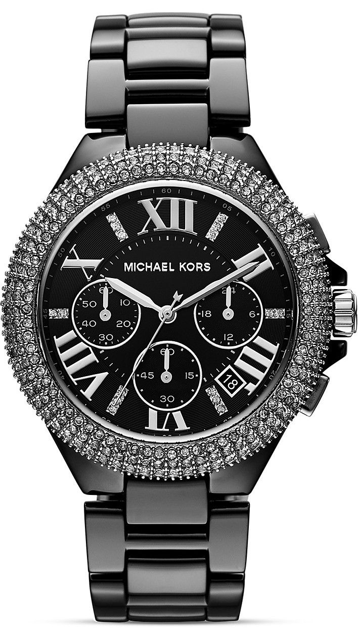 Michael Kors Camille Glitz Ceramic Chronograph Ladies Watch #MK5844 I quite like this... Want a black watch too!