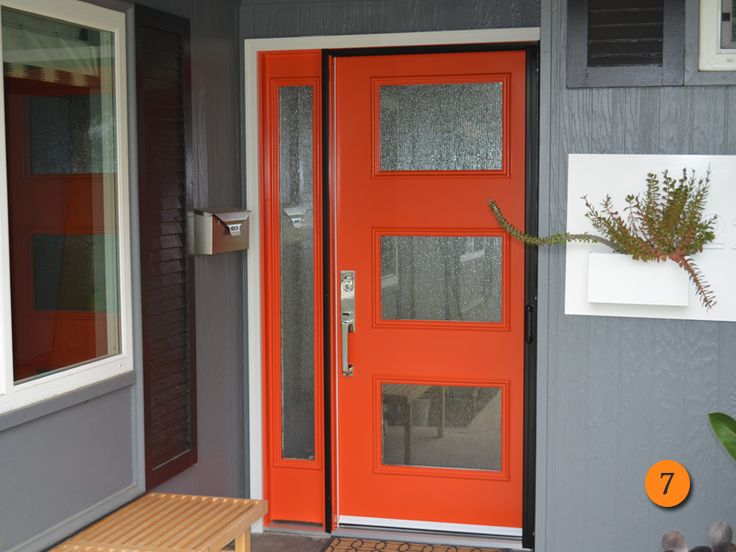 Half Glass Plain Modern Exterior Door   Google Search