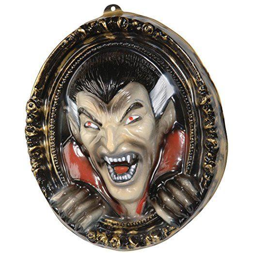 Elegant Gruseliger Vampir Bilderrahmen Horror Partydeko x cm Dracula Wandbild Halloween Deko Bilder Rahmen Dekoration