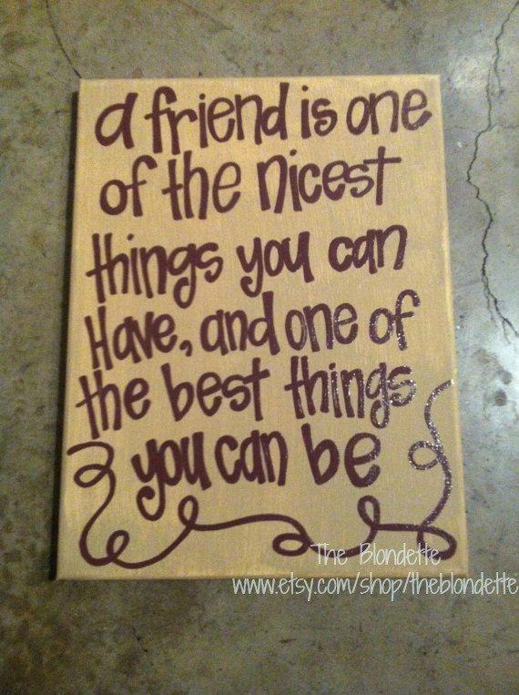 29 Quotes: Friendship Quotes On Canvas. QuotesGram