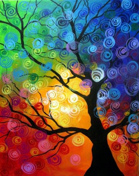 Wine and Canvas Party | Order class Spiral Tree Fri March 29, 2013 6:30 PM @ $30.00 Qty :