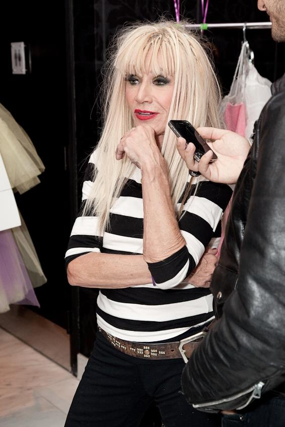 Betsey, at her 70th birthday fashion bash! So gorgeous, so chic!