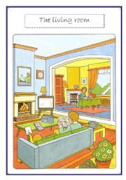 English teaching worksheets: Living room