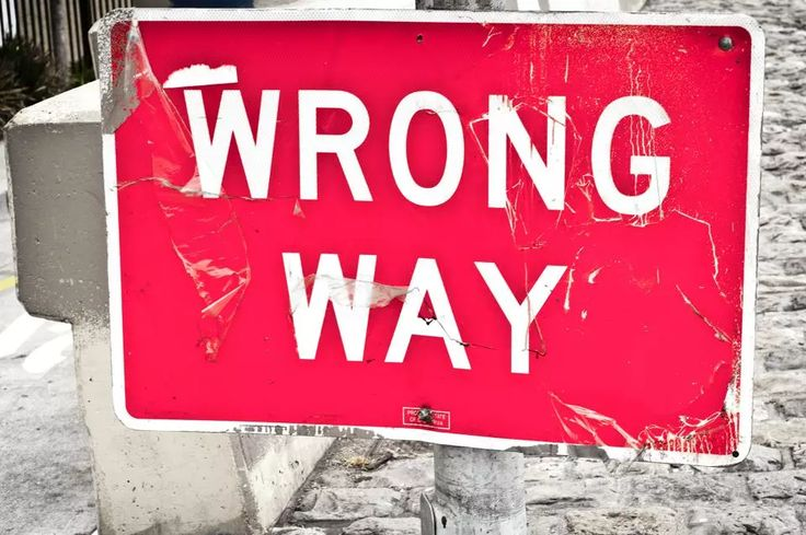 960px version of 'Wrong Way' sign